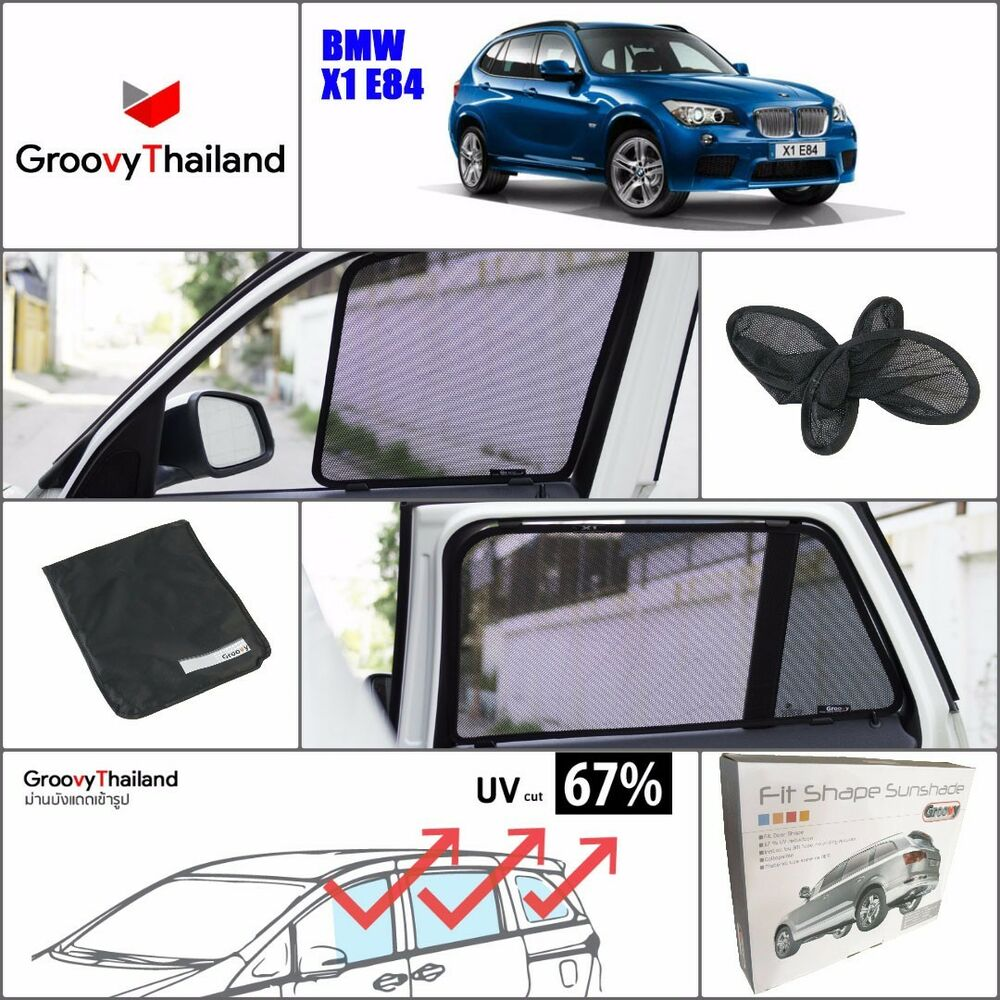 6 pcs set foldable mesh curtain car sun shade assembly fit for Sun motor cars bmw
