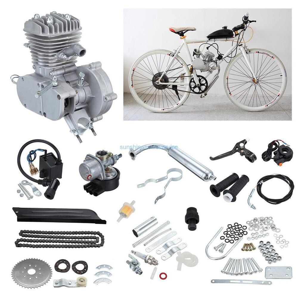 50cc 2 cycle motor kits bicycle motorized bike petrol gas for Motor assisted bicycle kit