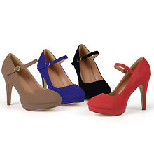 Journee Collection Womens Platform Mary Jane Pumps New