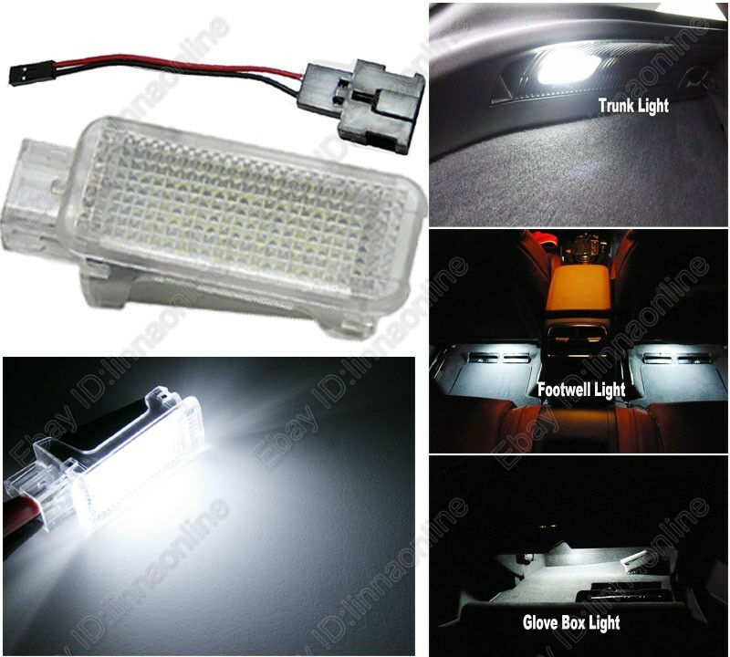 Audi A4 Glove Box Light Fuse : Pc white led door glove box trunk footwell light for audi