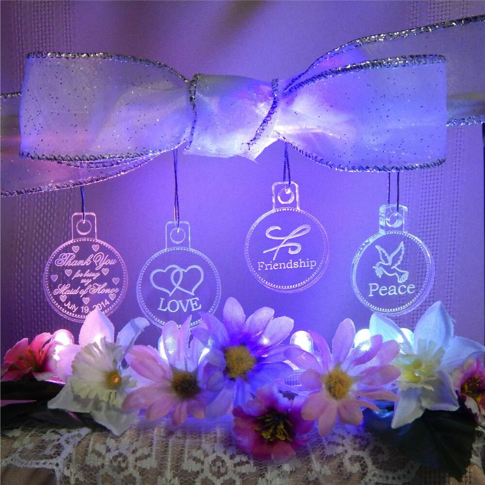 Perfect Maid of Honor Gift Mini Ornaments Assortment Etched Acrylic ...