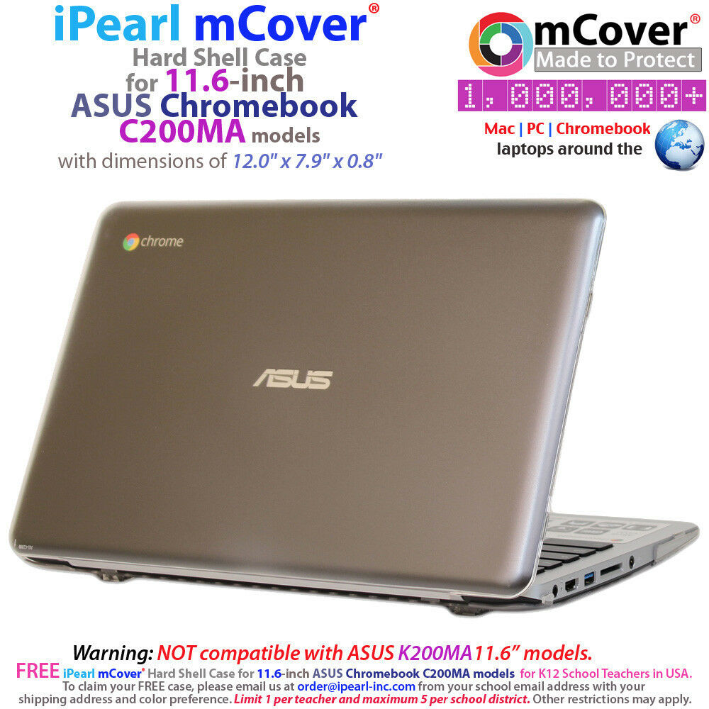 "NEW iPearl mCover® Hard Shell Case for 11.6"" ASUS"