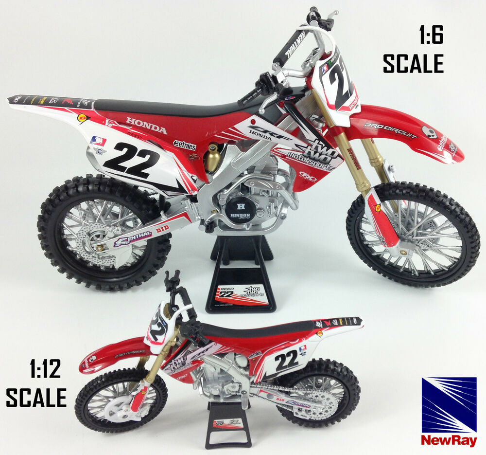 chad reed honda crf 450 die cast motocross mx motorbike toy model bike new ray ebay. Black Bedroom Furniture Sets. Home Design Ideas