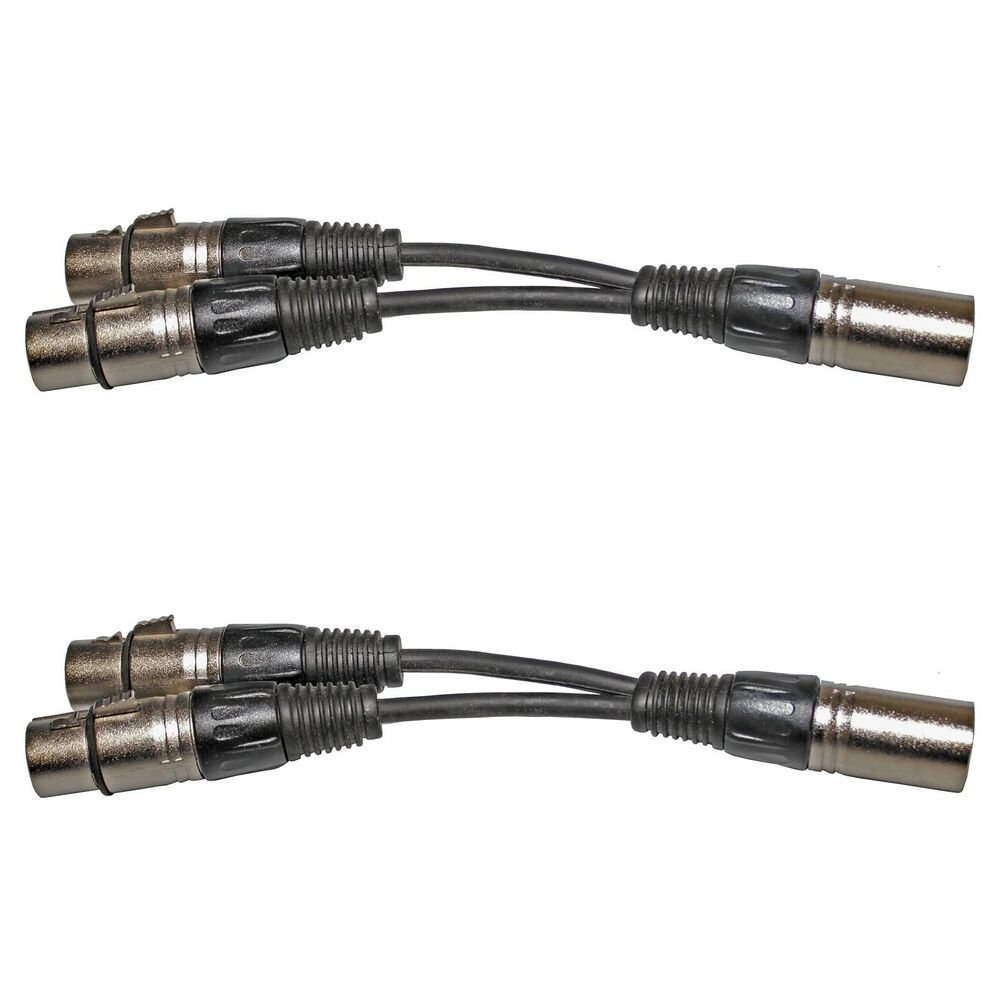 Xlr Splitter Cable : Lot pack xlr m male to dual f female y cable