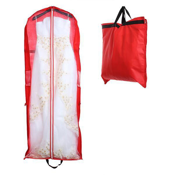 Wedding Bridal Long Dress Gown Garment Storage Handheld Bag Protector Cover