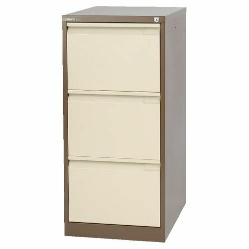 3 Drawer Professional Bisley Steel Filing Cabinet Coffee