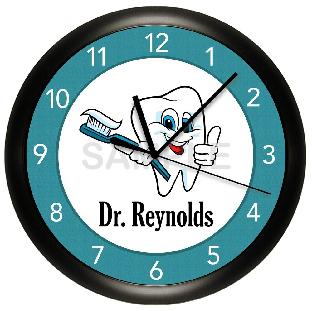 Dentist Office Wall Clock Personalized Gift Doctor