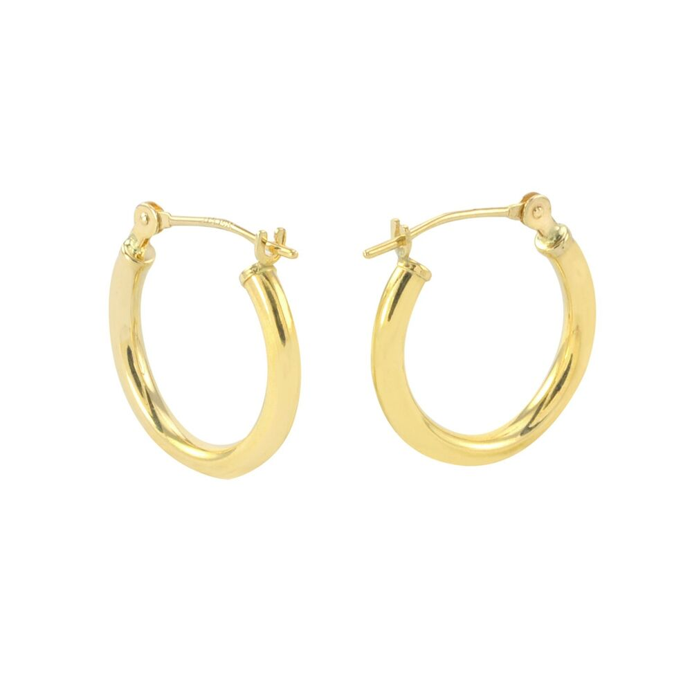 gold hoop earrings 14k yellow gold hoop earrings 14mm small latch post hoops 1326