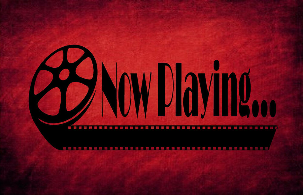 Now Playing Home Theater Vinyl Wall Quote Decal Decor
