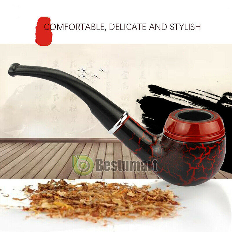New Wooden Enchase Smoking Pipe Tobacco Cigarettes Cigar Pipes Gift Durable  sc 1 st  eBay & New Wooden Enchase Smoking Pipe Tobacco Cigarettes Cigar Pipes Gift ...