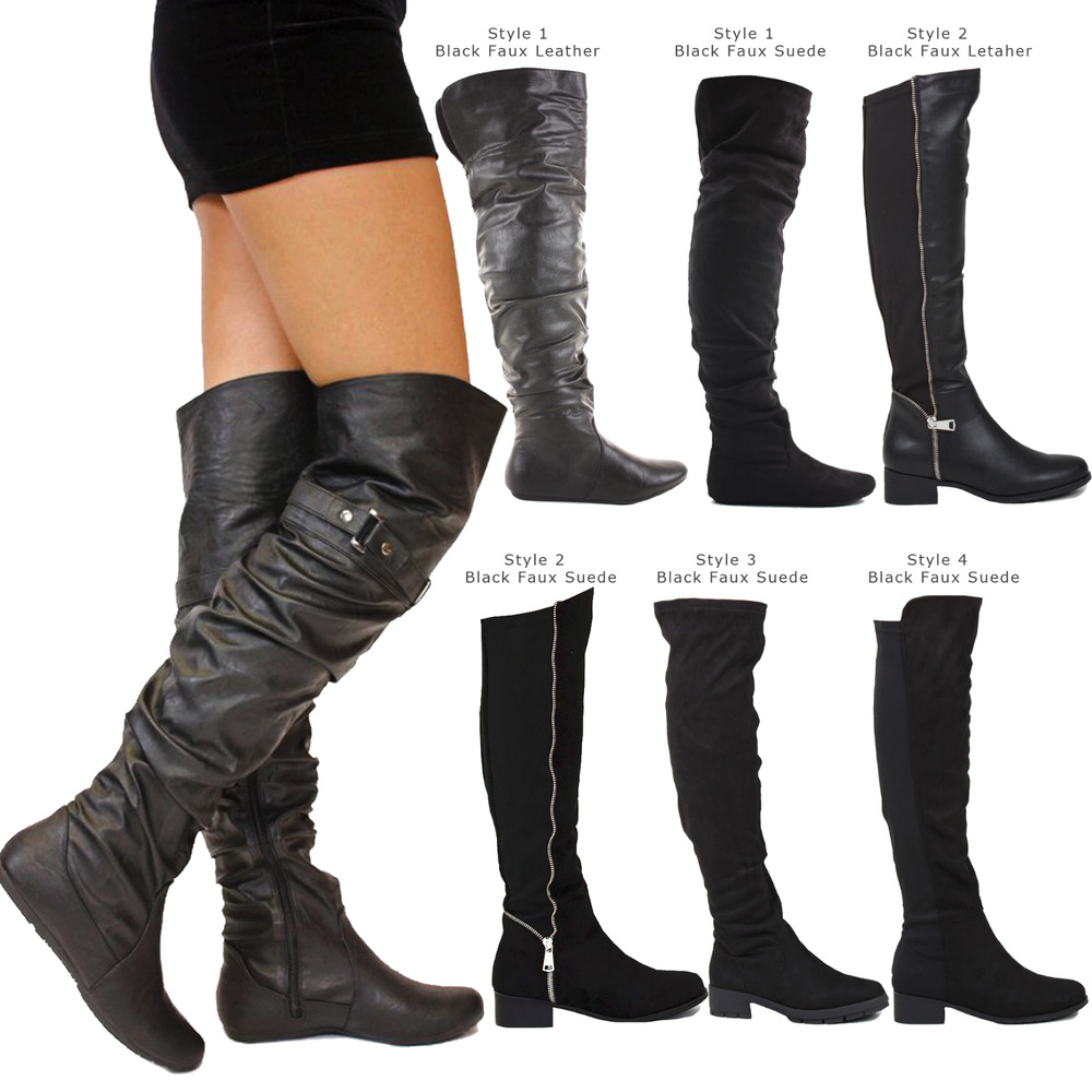 Images of Thigh High Boots For Plus Size Legs - Klarosa