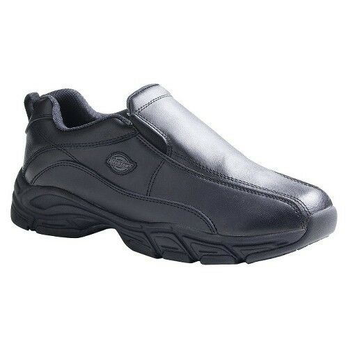 dickies s athletic slip on safety work shoe black ebay