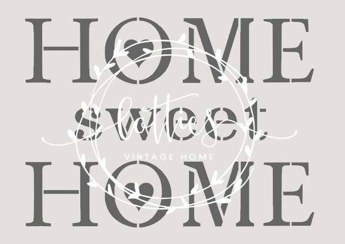stencil a5 home sweet home furniture fabric cards. Black Bedroom Furniture Sets. Home Design Ideas