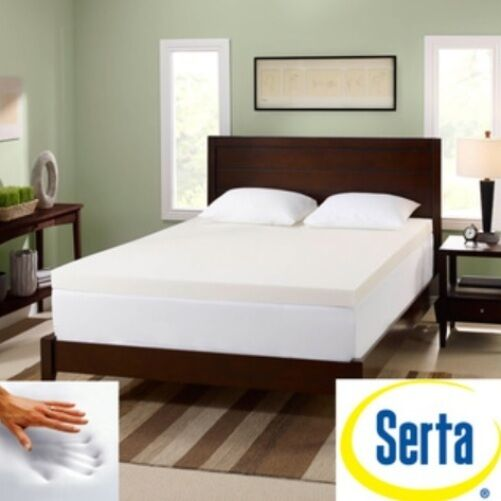 serta 3 inch memory foam mattress bed toppers pad memoryfoam topper pads ebay. Black Bedroom Furniture Sets. Home Design Ideas
