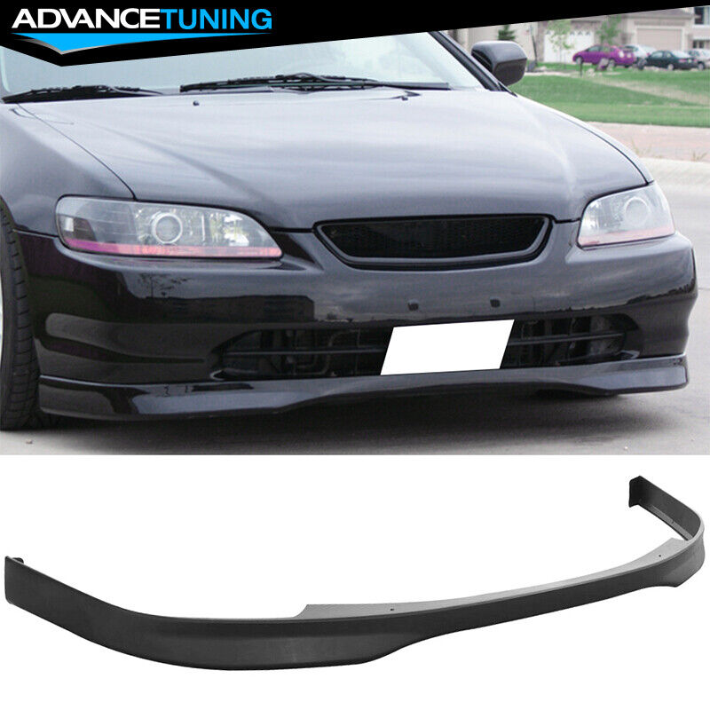 for 98 00 honda accord 2 door t r style front bumper lip. Black Bedroom Furniture Sets. Home Design Ideas