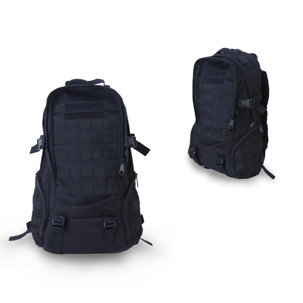 Black outdoor tactical military molle bag rucksack for Outdoor rucksack