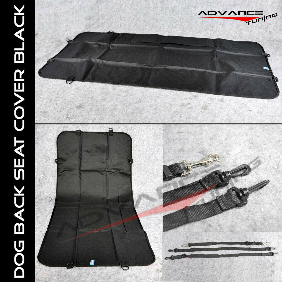 black dog pet waterproof car front seat cover mat blanket with safe belts ebay. Black Bedroom Furniture Sets. Home Design Ideas