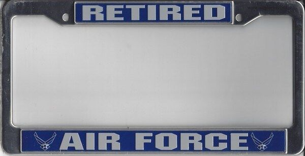 Air Force Retired Usaf Chrome Car License Plate Frame Made
