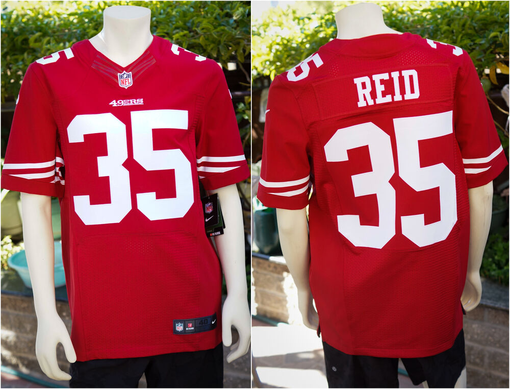 d33274594c8 Details about NEW Genuine  295 Eric Reid 35 San Francisco 49ers Elite Away  Jersey RED 40 44 56