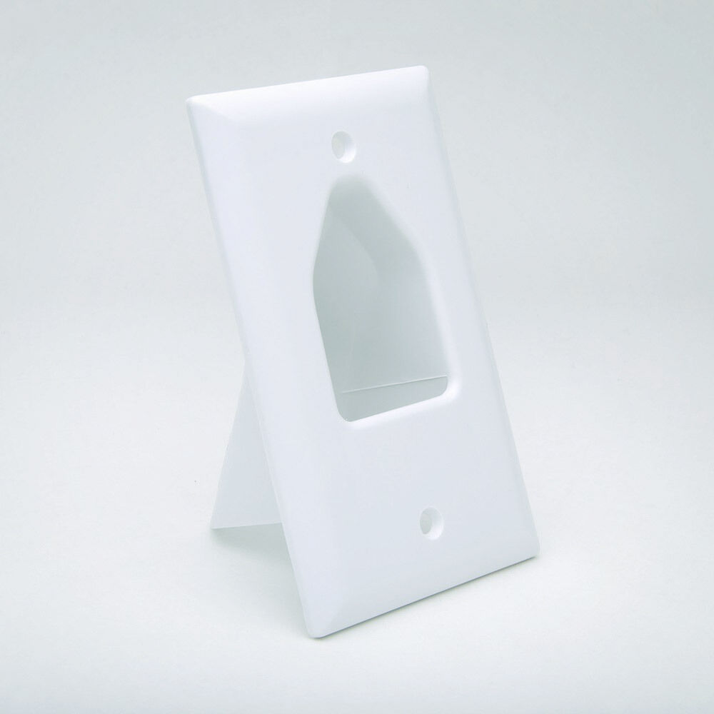 Low Voltage Cable Wall Pass Through Plates : Gang recessed wall plate low voltage pass through hdmi