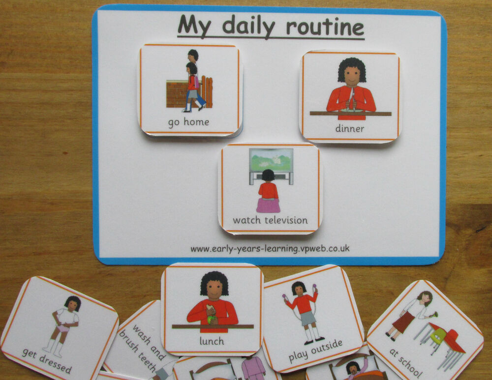 My Daily Routine Board Pecs Cards Communication Sen