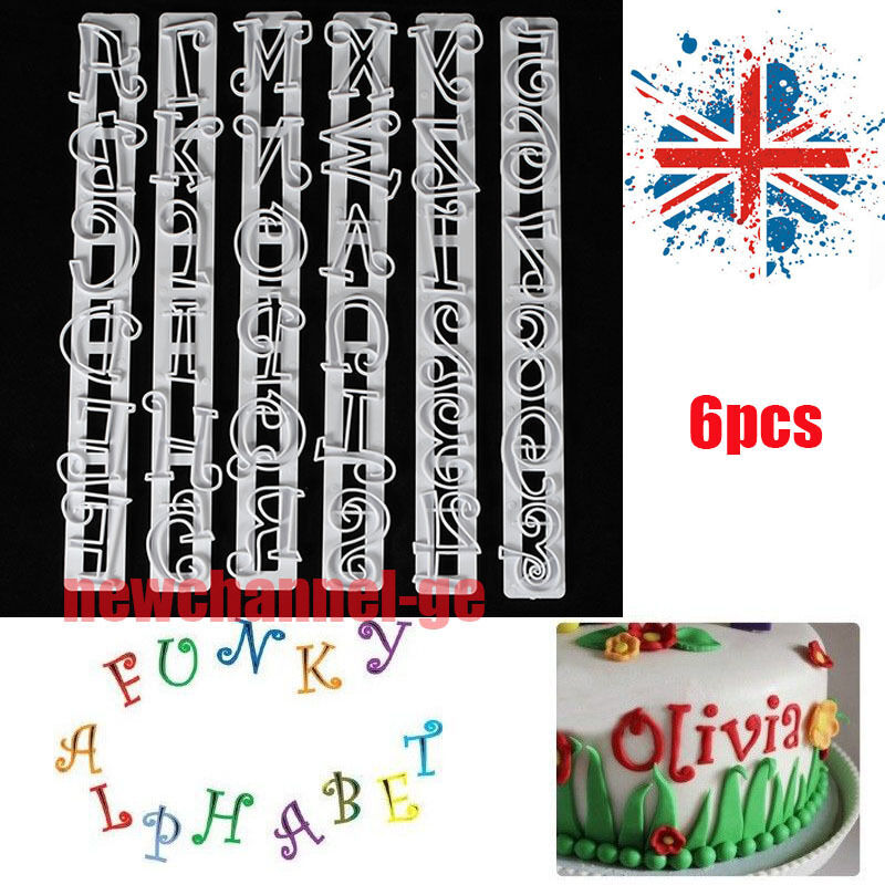 6p number letter frill edge frilling cake cupcake cutter for Gardening tools 6 letters