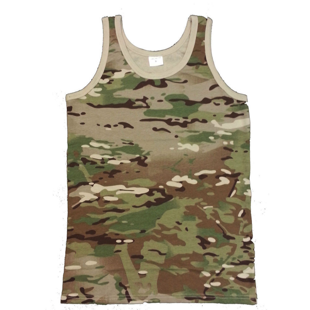 825adc10b6b2b Details about ARMY VEST COMBAT MEN TANK TOP MILITARY MULTICAM MTP FANCY  DRESS SLEEVELESS CAMO