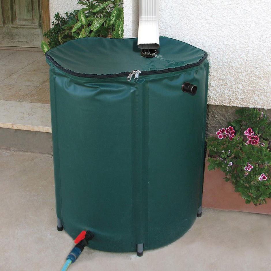 Rain Barrel 50 Gallon Collapsible Water Runoff Collection
