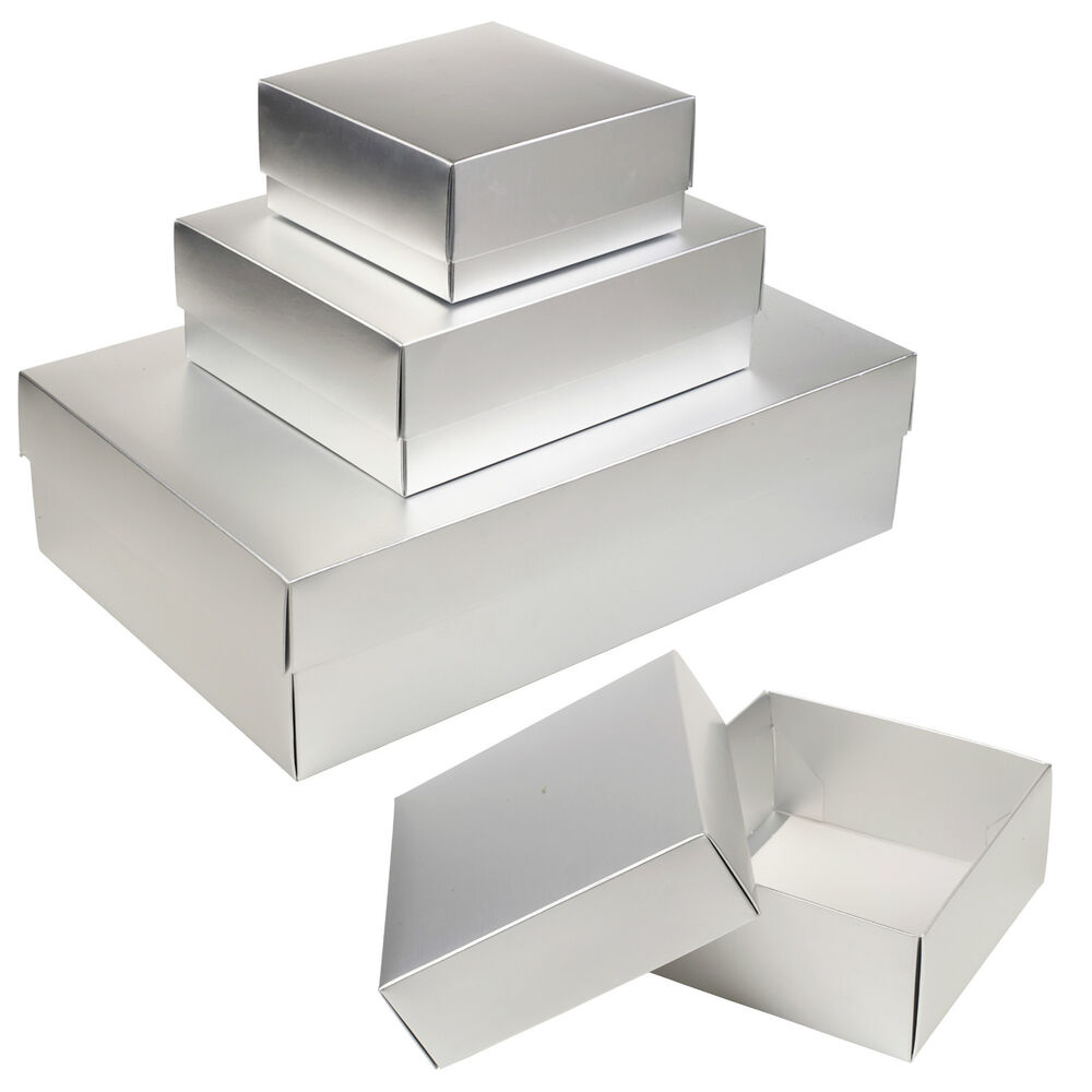 Gift Boxes For Weddings: Card Matte Silver Gift Boxes Occasion Presentation