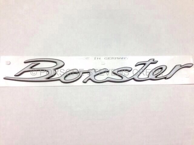 porsche boxster emblem insignia logo script titanium. Black Bedroom Furniture Sets. Home Design Ideas