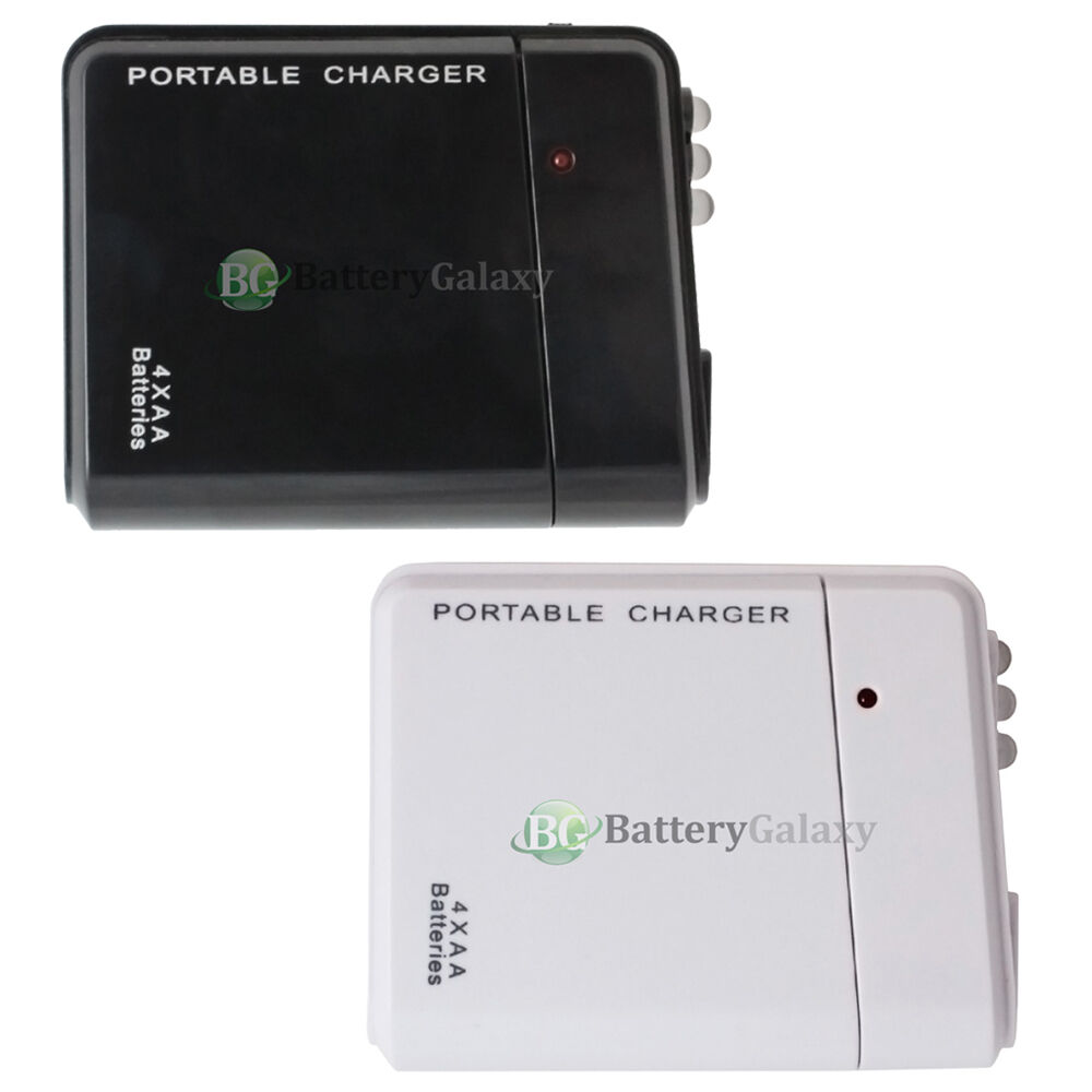 USB Emergency Portable 4 AA Battery Power Charger For