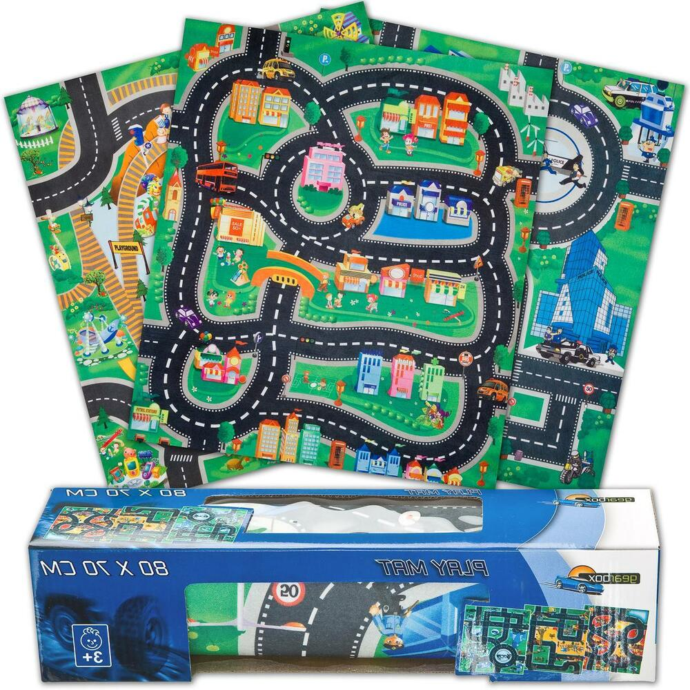 Kids Childrens Boys Car & Road Play Mat Roll Up Bithday