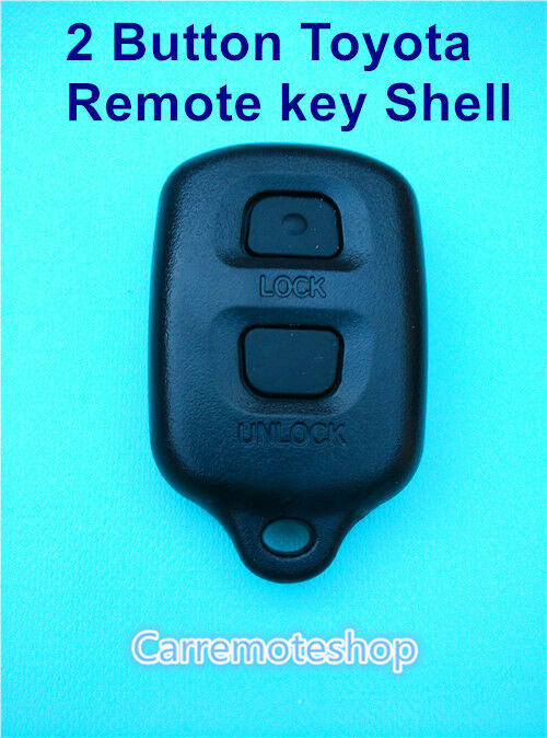 2 button toyota remote key shell case replacement for corolla camry rav4 yaris ebay. Black Bedroom Furniture Sets. Home Design Ideas