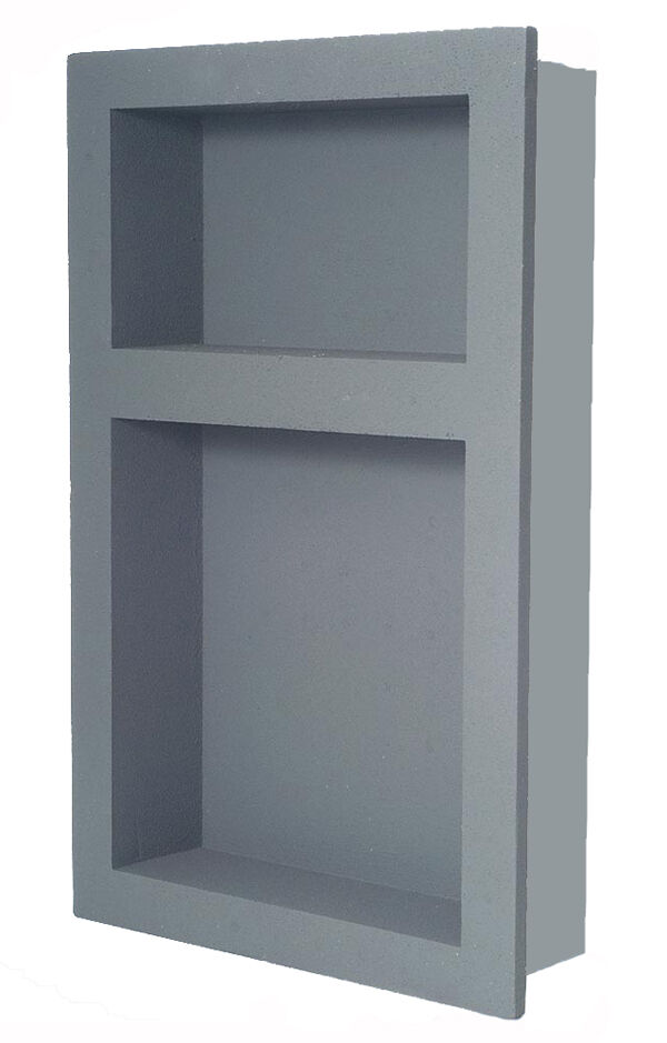 preformed double recessed shower niche 14 x 21 ready to. Black Bedroom Furniture Sets. Home Design Ideas