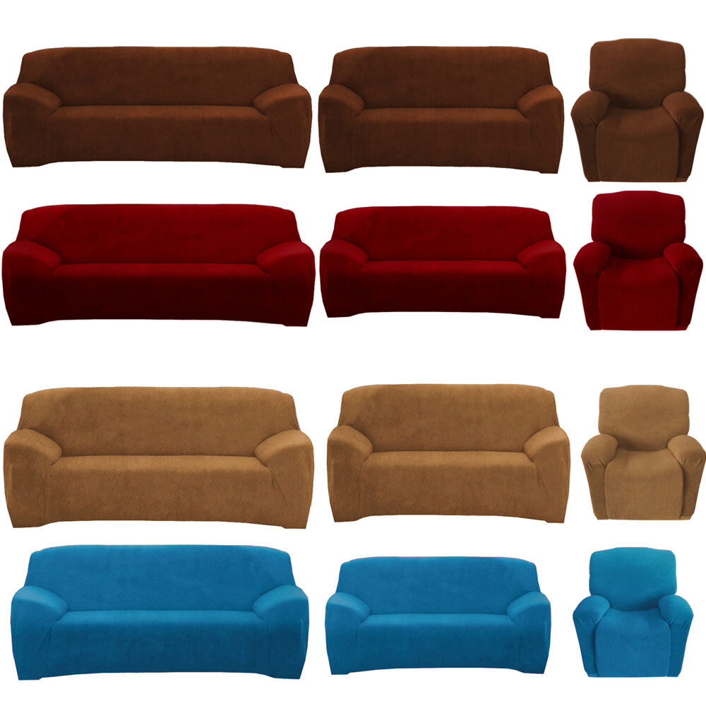 Love Sofas Ebay Shop: Stretch Sofa Couch Covers Slip Cover 1 Seater Recliner 2