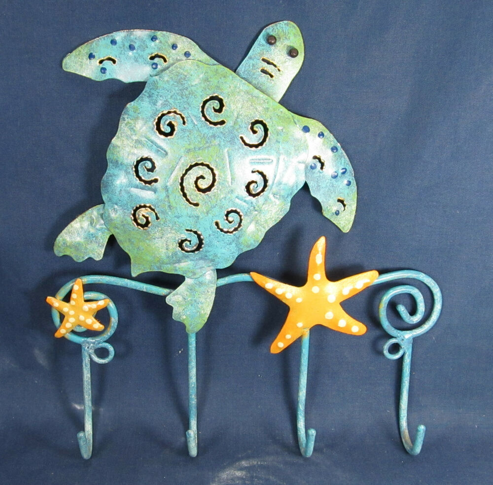 Sea Turtle Key Hook Nautical Beachy Home Decor Ebay