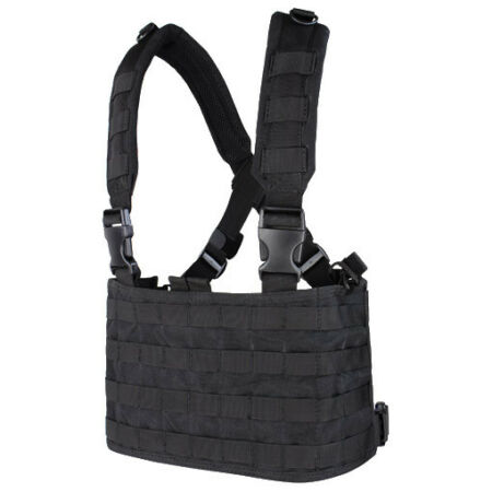 img-CONDOR TACTICAL OPS CHEST RIG MOLLE SYSTEM AIRSOFT SECURITY POLICE WEBBING BLACK