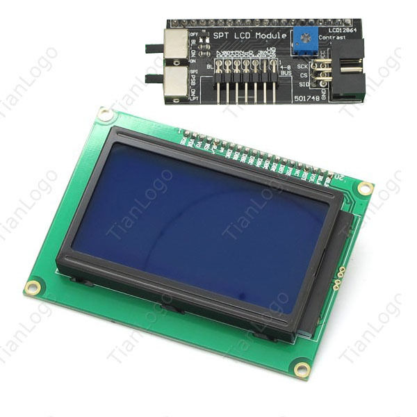 Lcd spi serial graphic display module for