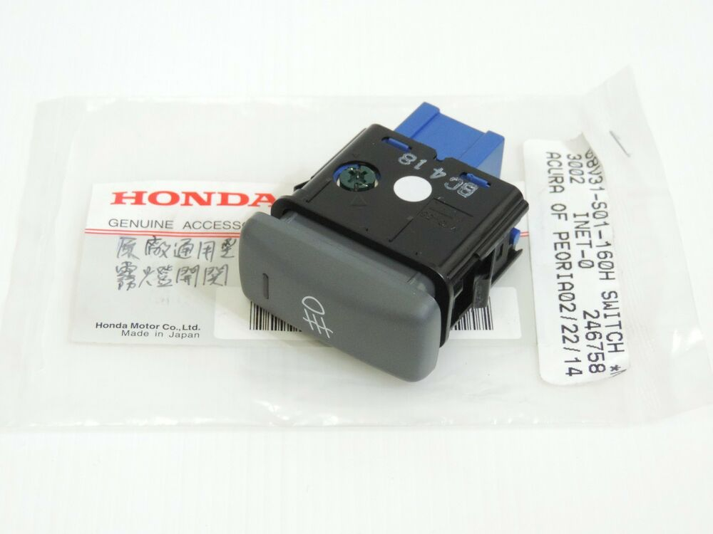 Oem Honda Fog Light Switch Button Charcoal Genuine Fits