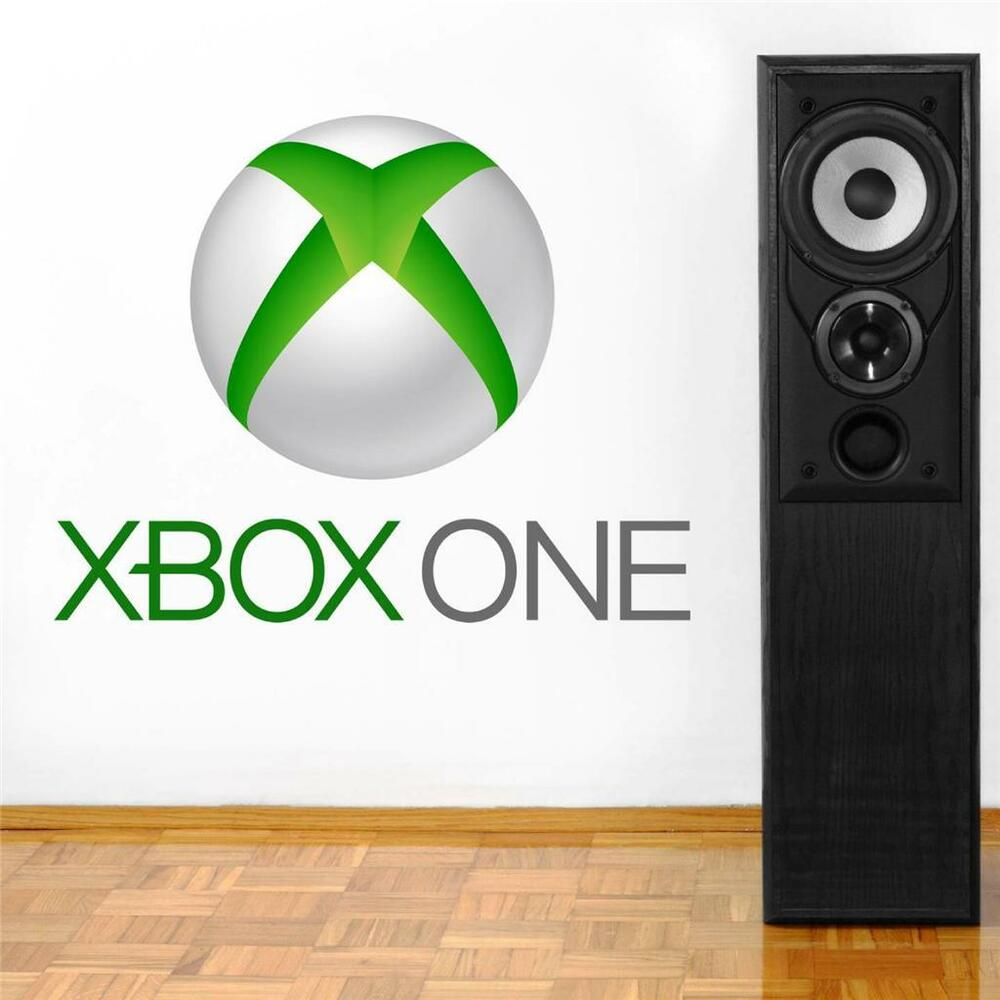 Game room decor ebay xbox one logo decal removable wall sticker home decor art video game room huge amipublicfo Gallery