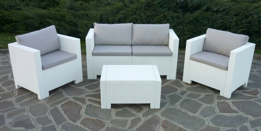 New Rattan Wicker Conservatory Outdoor Garden Furniture Set Brown White Grey
