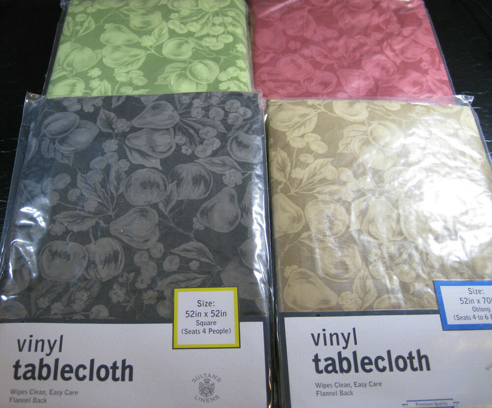 Flannel Backed Vinyl Tablecloth By Sultan Quot Fruits Quot Red 60