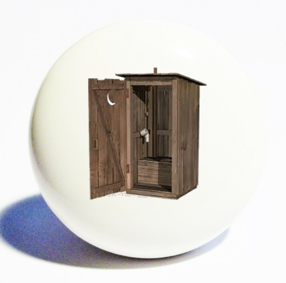 Country Kitchen Cabinet Knobs: RUSTIC COUNTRY OUTHOUSE HOME DECOR CERAMIC KNOB DRAWER