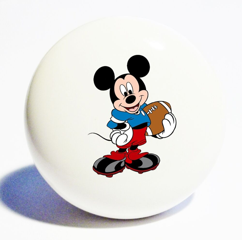 MICKEY MOUSE HOME DECOR CERAMIC KNOB DRAWER CABINET PULL ...