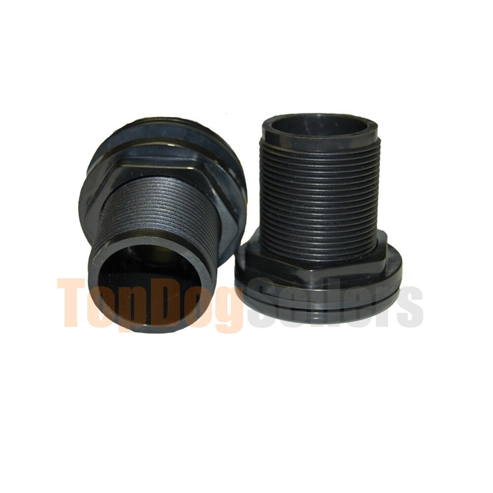 Bulkhead fitting quot inch id slip aquarium pond