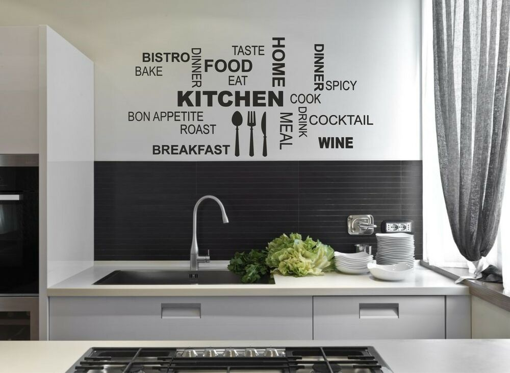Kitchen Sticker Wall Stencil Dinning Room Adhesive Collage
