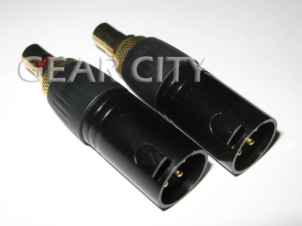 Cxm02 2x Xlr Male To Rca Female Socket Adapter Gold