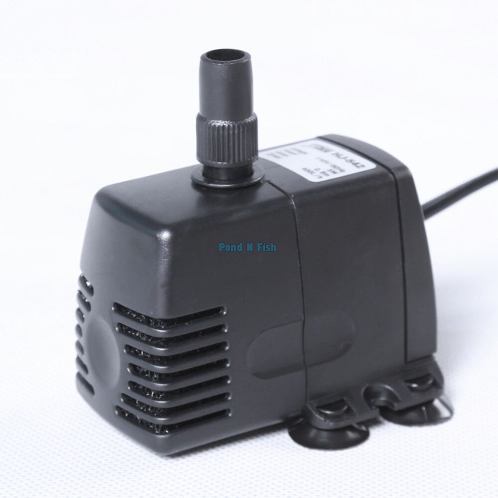 105 gph submersible water pump fountain fall hydroponic for Hydroponic pump