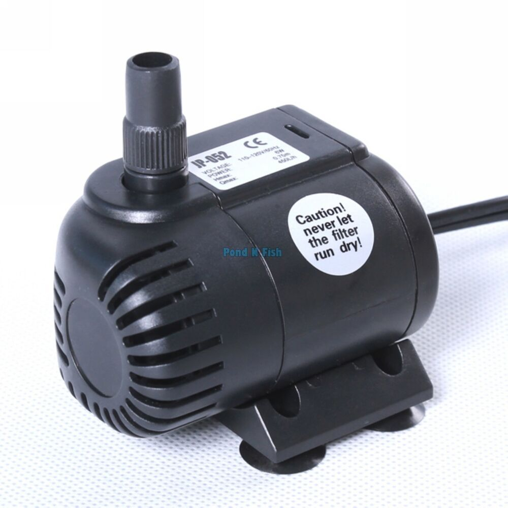 120 gph submersible water pump aquarium fish tank for Fish water pump