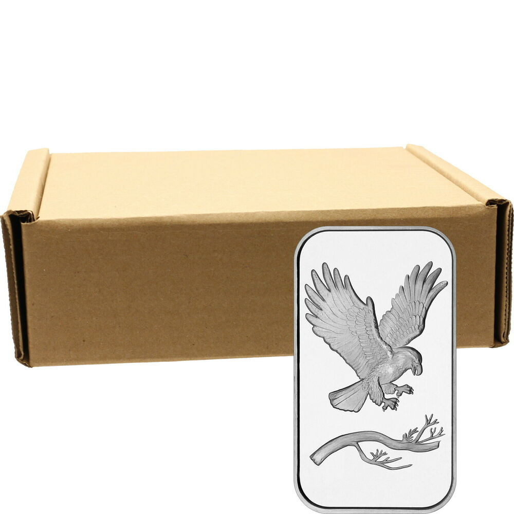 Silvertowne Trademark Eagle 1oz 999 Silver Bar Monster